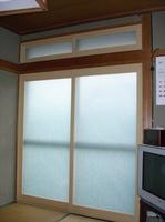 二重窓大信プラストサッシ掃き出し窓+欄間