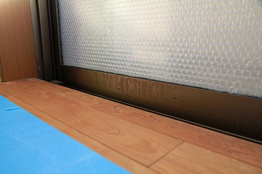 内窓プラスト施工前に発生していた結露