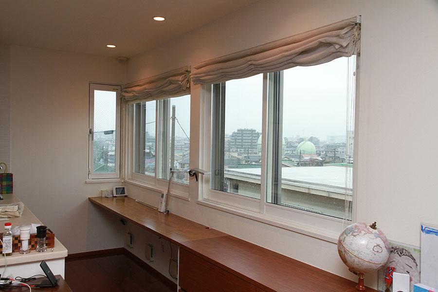内窓プラストを設置した窓