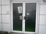 ドアのガラス修理